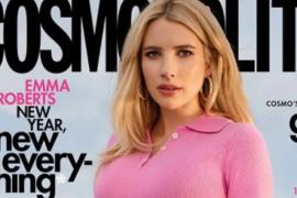 Emma Roberts posa embarazada para la revista 'Cosmopolitan'