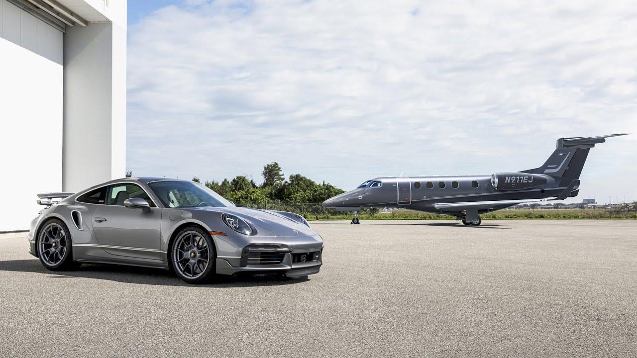 Porsche 911 Turbo S y Jet Phenon 300E, una combinación de lujo