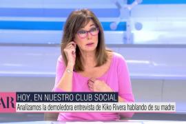La pulla de Ana Rosa Quintana a Kiko Rivera: «Con una chapa de Coca-Cola en la oreja pierde credibilidad»
