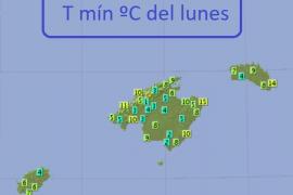 Mallorca vive la noche más fría del otoño