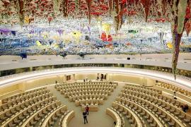 La cúpula que decoró Barceló en la sede de Ginebra de la ONU se queda sin dinero