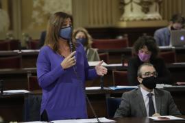 La presidenta del Govern reitera su decepción con la inversión estatal en Baleares en 2021