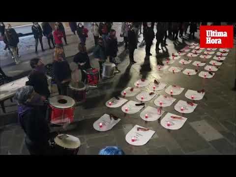 Una batucada pone fin al Día de la Violencia contra las Mujeres en Mallorca