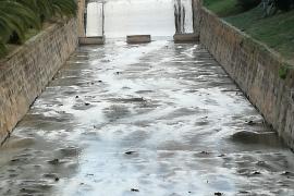 Las aguas de sa Riera, turbias por la sal de la potabilizadora