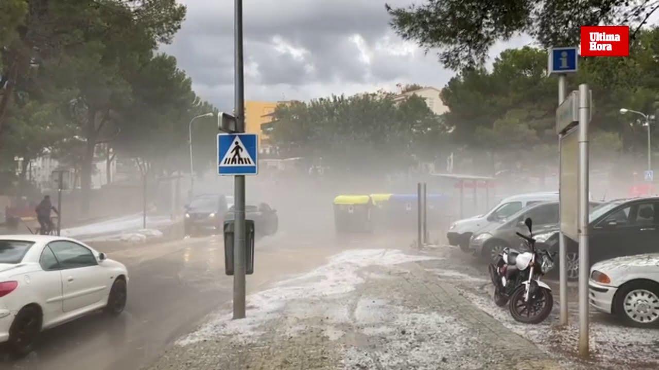 La tormenta ya empieza a descargar en Mallorca