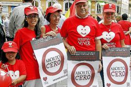 Unas 400 personas secundan la marcha contra el aborto en Cort