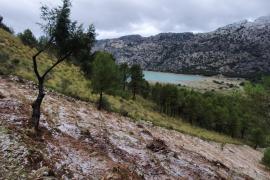 Ligera capa de nieve en la Serra, a partir de 850 metros de altura