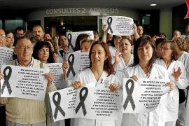 PALMA - PROTESTA POR EL CIERRE DEL HOSPITAL JOAN MARCH Y EL HOSPITAL GENERAL.