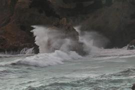 El temporal deja rachas de hasta 115 km/h en Alfàbia y 69 en Banyalbufar