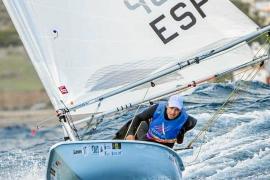 Carlos Roselló, en acción durante la Semana Olímpica Canaria de Vela
