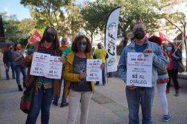Los sindicatos seguirán con protestas si no se sube el sueldo a los funcionarios de Baleares