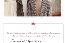 La Casa Real mantiene al rey Juan Carlos en una de las felicitaciones navideñas