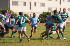 Una acción del partido de ayer entre la UD Ibiza Rugby y el Ponent.