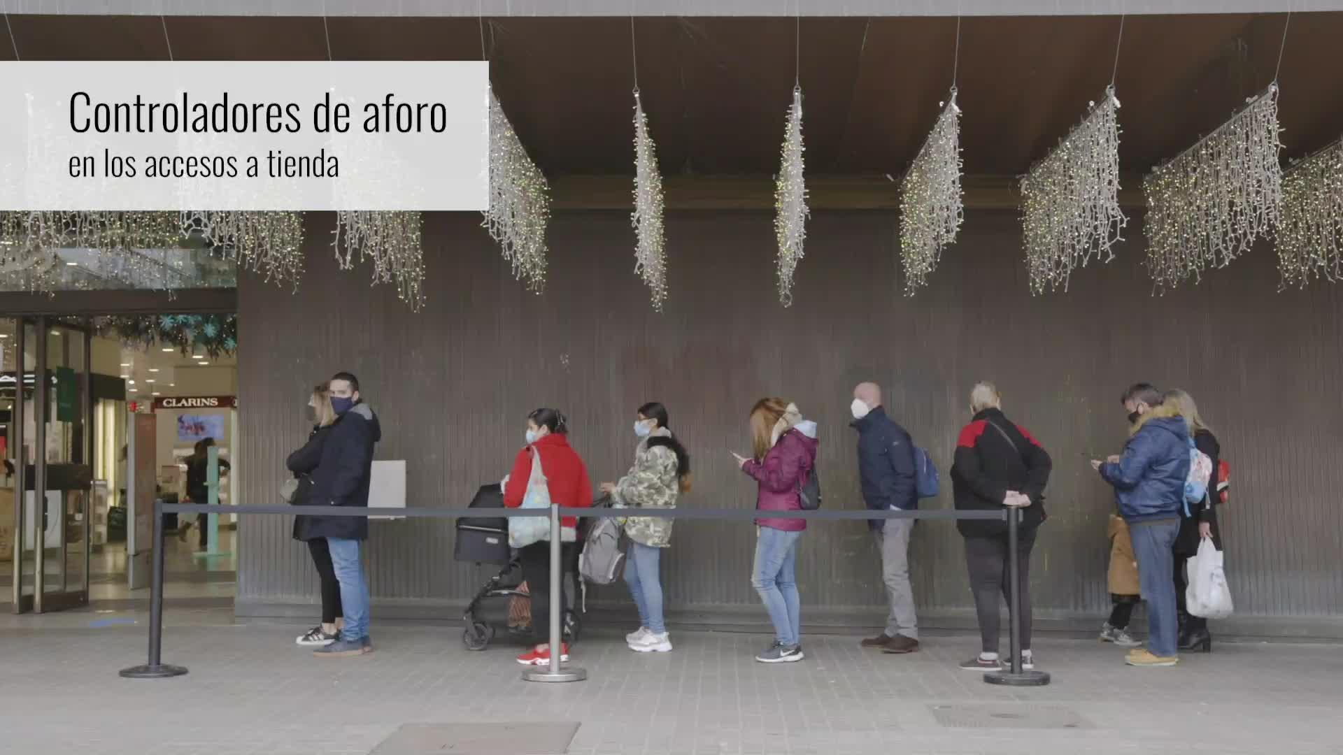 Más de 55 personas controlarán aforos en los centros de El Corte Inglés en Palma ante las nuevas restricciones