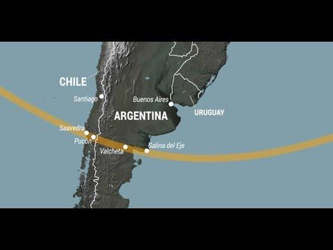 Así ha sido el eclipse solar que oscurecerá Suramérica