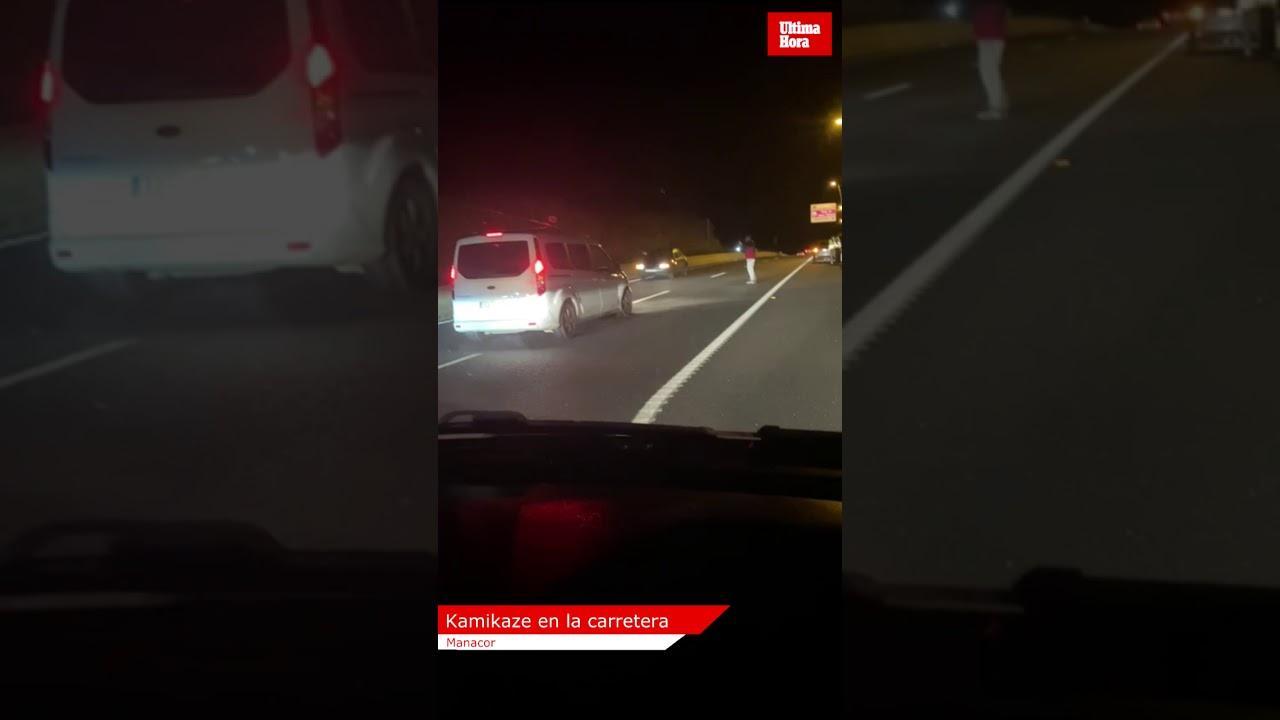 Un conductor kamikaze siembra el pánico en la carretera Palma-Manacor