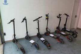 Detenido en Palma por robar patinetes eléctricos y bicicletas