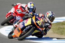 Accidentado final de carrera en Moto3 en el que cae Salom
