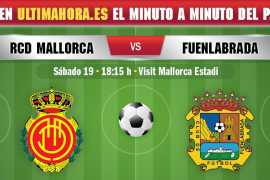 Real Mallorca-Fuenlabrada, en directo