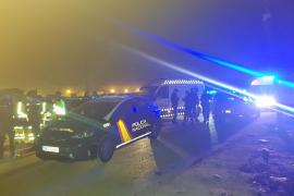 Un cocainómano embiste con su coche a la patrulla que le multó en Son Banya