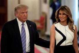 Melania Trump comparte una foto con Donald y las redes dicen que es un montaje