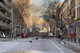 Tres heridos leves por la explosión de una autocaravana en Nashville
