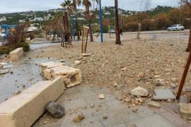 Caída de árboles y daños en la costa en el paso de la borrasca por Baleares