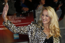 """Jerry Hall arrives for the world premiere of the Rolling Stones documentary """"Crossfire Hurricane"""" at the Odeon Leicester Square"""
