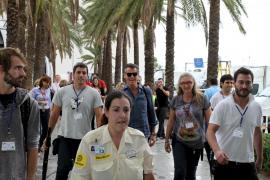 Las estrellas de 'A long way down', en Mallorca