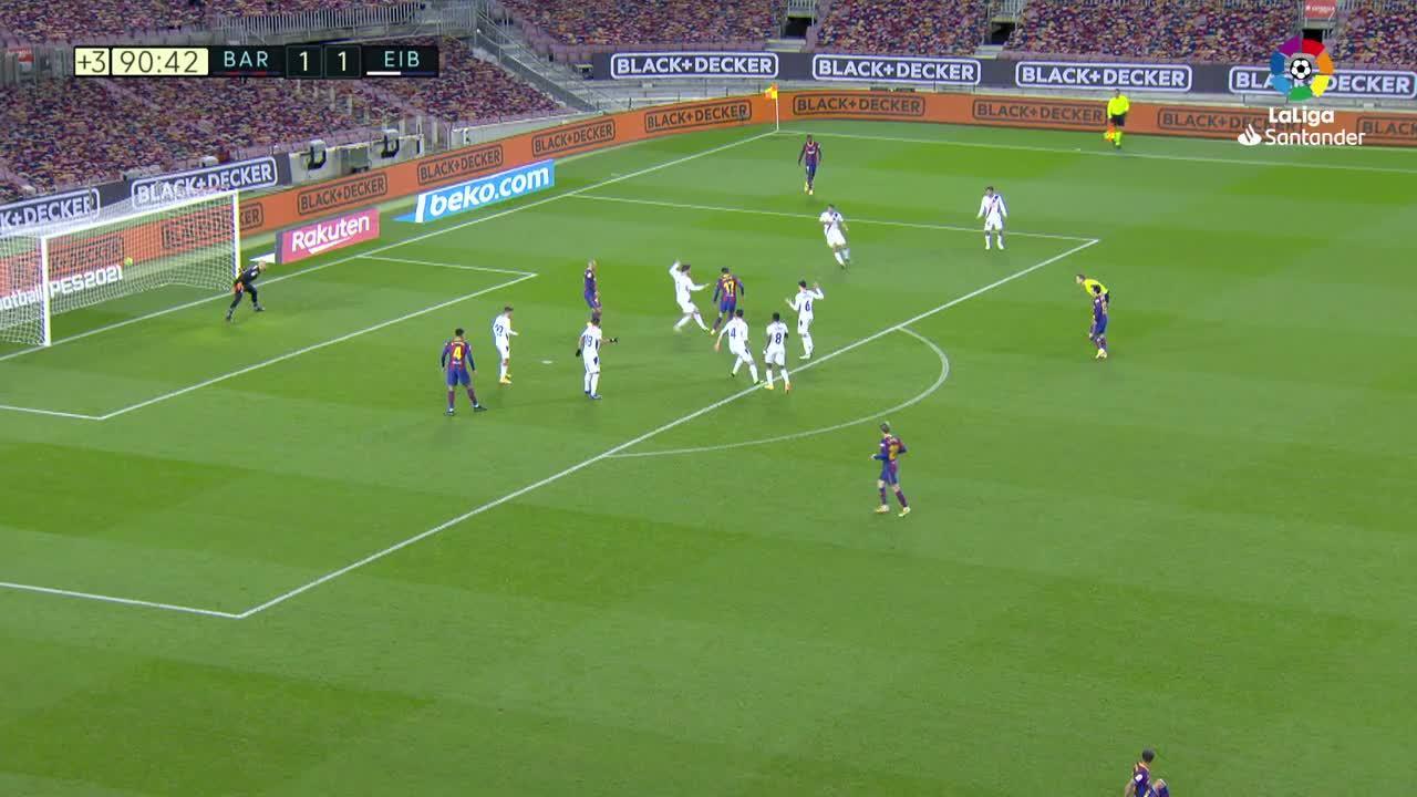 Barcelona y Eibar empatan en el Camp Nou