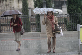 Mallorca estará mañana en alerta amarilla por lluvias que podrían venir acompañadas de granizo