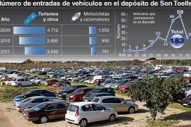 La Policía Local retiró 3.042 coches embargados o abandonados en 2011