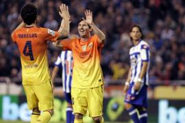 El Barcelona se lleva un partido loco