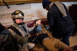 Seguidores de Trump protestan en el Capitolio de Estados Unidos