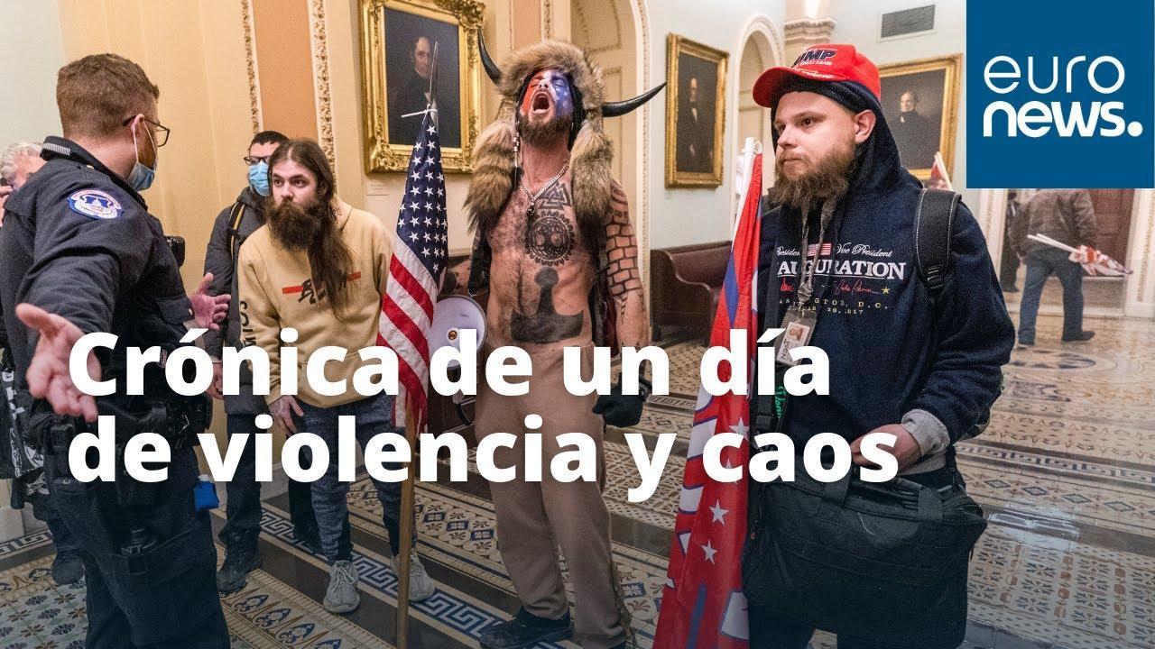 Impactantes imágenes del asalto al Capitolio
