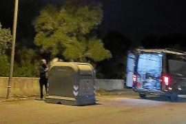 Sanción de 3.000 euros en Llucmajor por depositar escombros de obra en un contenedor urbano