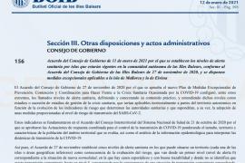 El BOIB publica las nuevas restricciones en Mallorca e Ibiza