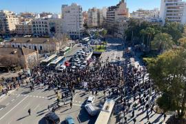 Protesta de la restauración en Palma por el cierre