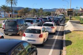 Atascos en Palma por la protesta de restauración