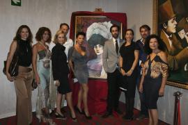 Carlos Prieto presenta un cuadro en el Casino