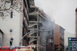 3 muertos por una potente explosión en un edificio del centro de Madrid