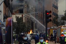 Una caldera de gas, posible causa de la explosión en Madrid