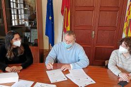 Andrea Pomar, Carlos Simarro y María Caro