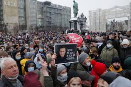 Más de 2.100 detenidos en Rusia durante las protestas para exigir la liberación de Navalni