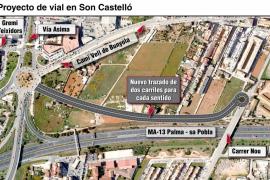 Aprobada inicialmente una carretera de cuatro carriles en Son Castelló