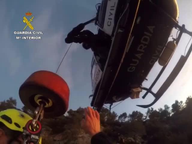 Rescatado un senderista herido de 71 años en la Serra de Tramuntana