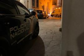 Incendio en un edificio en el casco antiguo de Palma