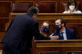 El Gobierno salva el decreto ley de los fondos europeos con la abstención de Vox y el apoyo de PNV y Bildu