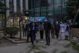 La OMS visita el hospital de Wuhan que trató algunos de los primeros casos