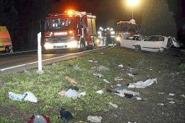 Tres ocupantes de un vehículo huyen tras chocar contra otro en Palmanova